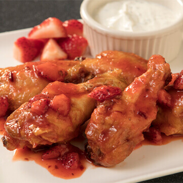 Strawberry Chipotle Glazed Wings