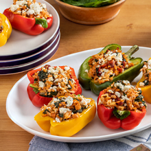 Colorful Chicken Stuffed Peppers