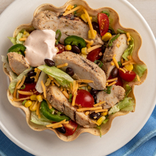 10 Minute Chicken Taco Salad