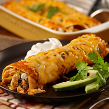 Three Cheese Chicken Enchiladas