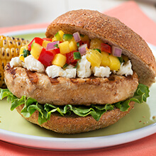 Turkey Burgers with Tropical Salsa
