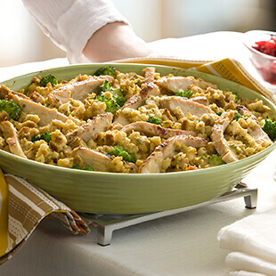 Turkey and Herb Stuffing Bake