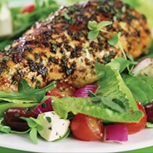 Greek Salad Olive-Grilled Chicken
